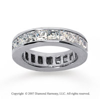 4 3/4 Carat Diamond 14k White Gold Princess Eternity Band