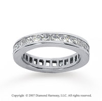 1 Carat Diamond 18k White Gold Princess Eternity Band
