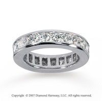 4 Carat Diamond 18k White Gold Princess Eternity Band
