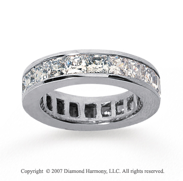 4 3/4 Carat Diamond 18k White Gold Princess Eternity Band