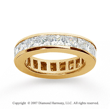2 Carat Diamond 14k Yellow Gold Princess Eternity Band