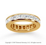3 1/2 Carat Diamond 14k Yellow Gold Princess Eternity Band
