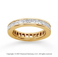 1 Carat Diamond 18k Yellow Gold Princess Eternity Band
