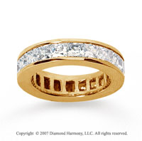 4 3/4 Carat Diamond 18k Yellow Gold Princess Eternity Band