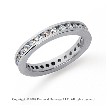 1/2 Carat Diamond Platinum Round Channel Band
