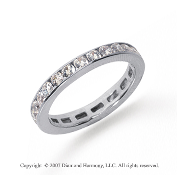 3/4 Carat Diamond Platinum Channel Eternity Band