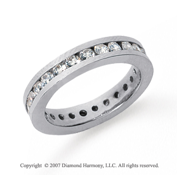 1 Carat Diamond Platinum Channel Eternity Band