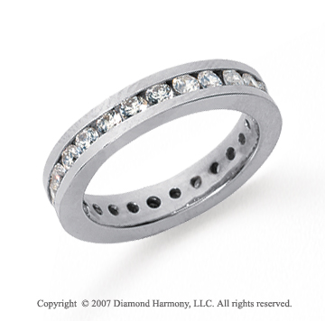 1 1/2 Carat Diamond Platinum Channel Eternity Band