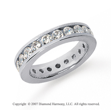 2 Carat Diamond Platinum Channel Eternity Band