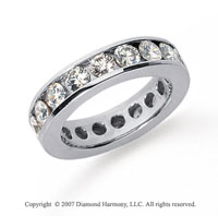 2 1/2 Carat Diamond Platinum Channel Eternity Band