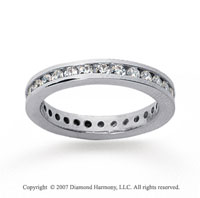 1/2 Carat Diamond 14k White Gold Channel Eternity Band