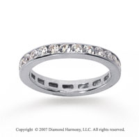 3/4 Carat Diamond 14k White Gold Channel Eternity Band