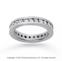 1 Carat Diamond 14k White Gold Channel Eternity Band