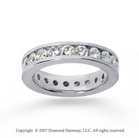 2 Carat Diamond 14k White Gold Channel Eternity Band
