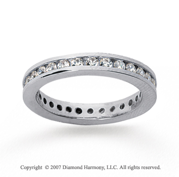 1/2 Carat Diamond 18k White Gold Channel Eternity Band