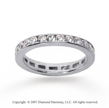 3/4 Carat Diamond 18k White Gold Channel Eternity Band