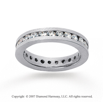 1 Carat Diamond 18k White Gold Channel Eternity Band