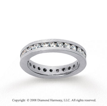 1 1/2 Carat Diamond 18k White Gold Channel Eternity Band