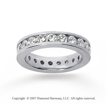 2 Carat Diamond 18k White Gold Channel Eternity Band