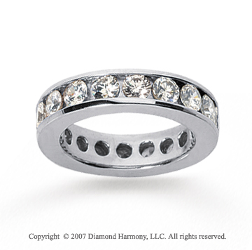 2 1/2 Carat Diamond 18k White Gold Channel Eternity Band
