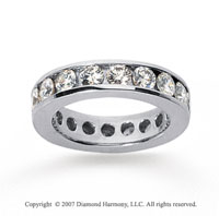 3 Carat Diamond 18k White Gold Channel Eternity Band