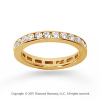 3/4 Carat Diamond 14k Yellow Gold Channel Eternity Band