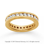 1 1/2 Carat Diamond 14k Yellow Gold Channel Eternity Band