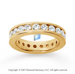 2 Carat Diamond 14k Yellow Gold Channel Eternity Band
