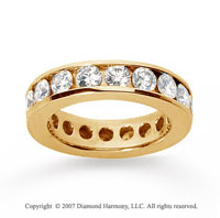 2 1/2 Carat Diamond 14k Yellow Gold Channel Eternity Band