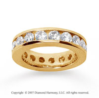 3 1/2 Carat Diamond 14k Yellow Gold Channel Eternity Band