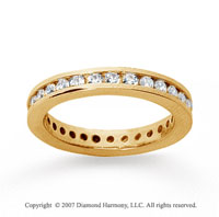 1/2 Carat Diamond 18k Yellow Gold Channel Eternity Band