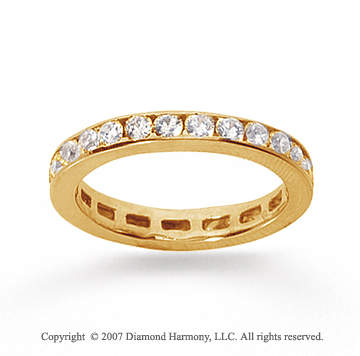 3/4 Carat Diamond 18k Yellow Gold Channel Eternity Band