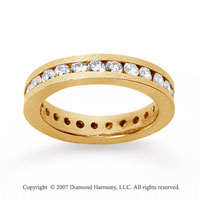 1 Carat Diamond 18k Yellow Gold Channel Eternity Band