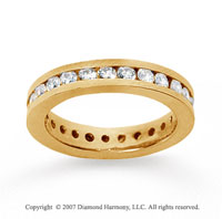 1 1/2 Carat Diamond 18k Yellow Gold Channel Eternity Band