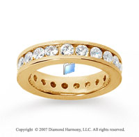 2 Carat Diamond 18k Yellow Gold Channel Eternity Band