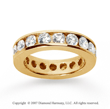 3 Carat Diamond 18k Yellow Gold Channel Eternity Band