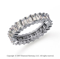 2 1/2 Carat Diamond Platinum Baguette Eternity Band