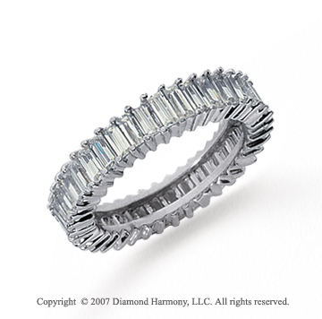 cartier baguette at diamond cut band rings eternity platinum bands ring