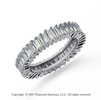 3 Carat Diamond Platinum Baguette Eternity Band
