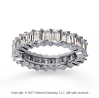 2 1/2 Carat Diamond 18k W Gold Baguette Eternity Band