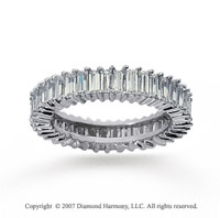 3 Carat Diamond 18K W Gold Baguette Eternity Band