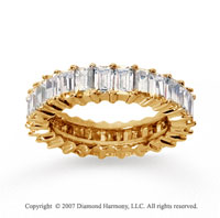2 1/2 Carat Diamond 14k Yellow Gold Baguette Eternity Band