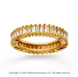 3 Carat Diamond 14k Yellow Gold Baguette Eternity Band