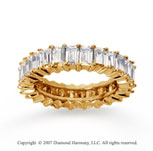 2 1/2 Carat Diamond 18k Y Gold Baguette Eternity Band