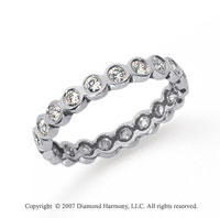1/2 Carat Diamond Platinum Round Bezel Eternity Band