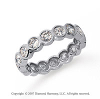 1 1/2 Carat Diamond Platinum Round Bezel Eternity Band