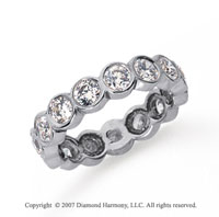 2 Carat Diamond Platinum Round Bezel Eternity Band