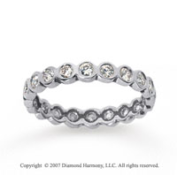 1/2 Carat Diamond 14k White Gold Round Bezel Eternity Band