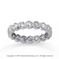 1 Carat Diamond 14k White Gold Round Bezel Eternity Band