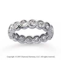 1 1/2 Carat Diamond 14k White Gold Round Bezel Eternity Band